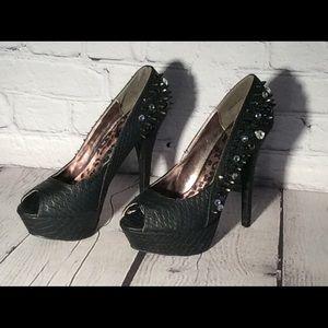 Dollhouse Womens Size 9 StilettoHeel JeweledSpiked
